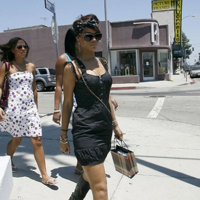 Rihanna Shops in LA