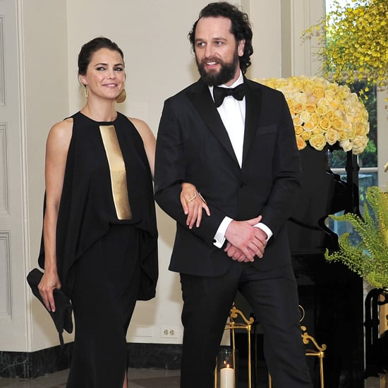 Keri Russell in Stephane Rolland Dress at State Dinner 2016