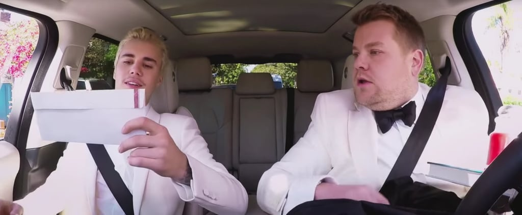 Justin Bieber and James Corden Got 2 Very Different Gift Bags at the Grammys