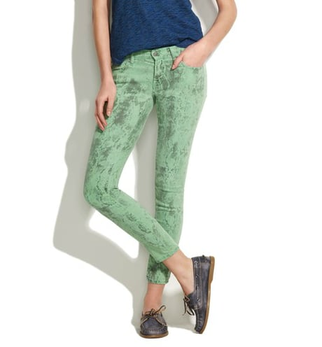 Textile Elizabeth and James Low Rise Skinny Jeans in Spearmint Python ($225)