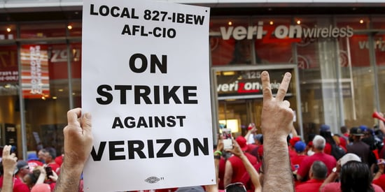 Verizon And Unions Reach 'Tentative Agreement' To End Strike