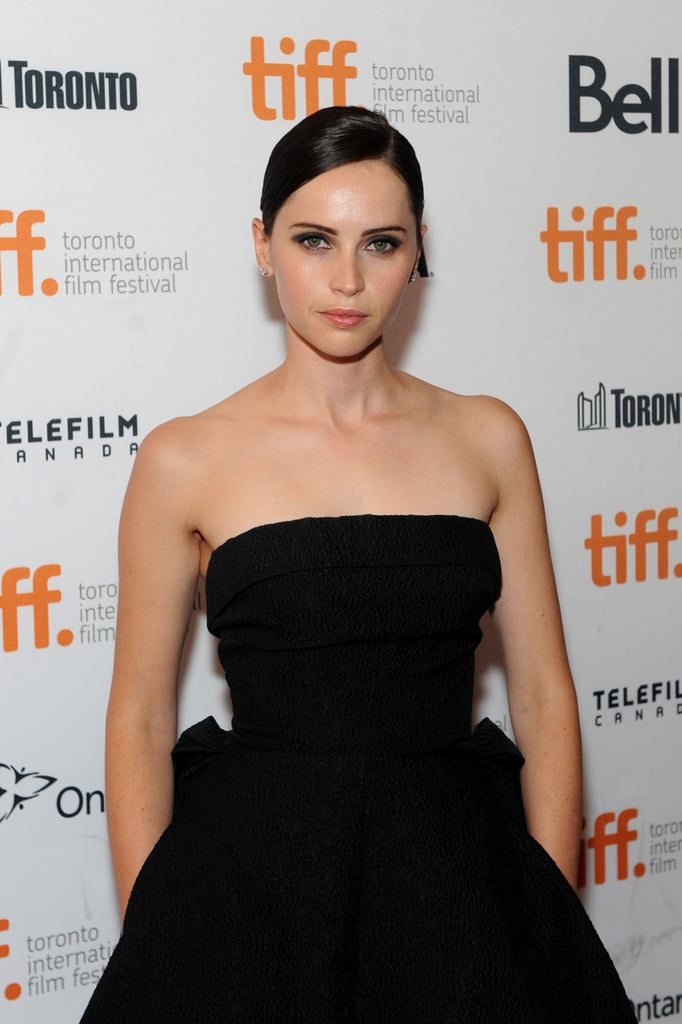 Felicity Jones attended the premiere of The Invisible Woman.