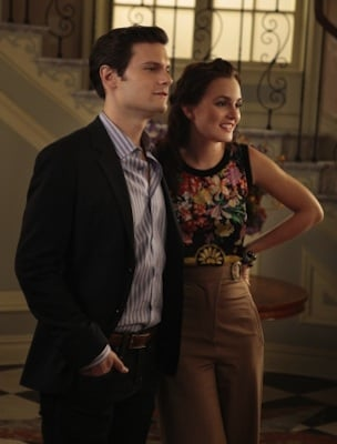Blair Waldorf in D&G Blouse and Tracey Reese Trousers