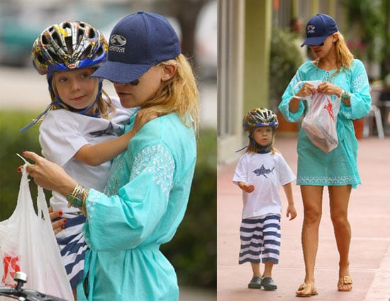 Kate Hudson And Ryder Go For a Bike Ride in Miami
