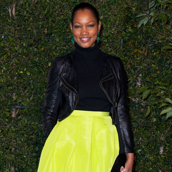 Garcelle Beauvais Wearing Neon Yellow Skirt