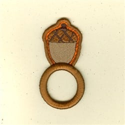 Embroidered Acorn Napkin Ring ($3.60/each)