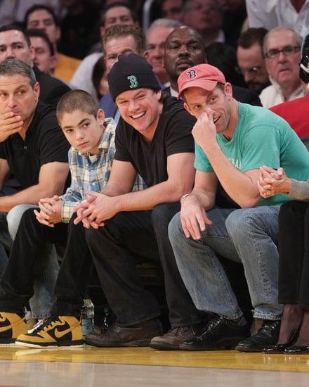 Pictures of Matt Damon, Zac Efron, Brooklyn Decker at Celtics vs. Lakers Game in LA 2011-01-31 07:36:32