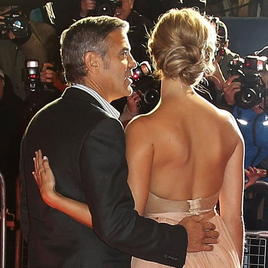 George Clooney and Stacy Keibler London Red Carpet Pictures