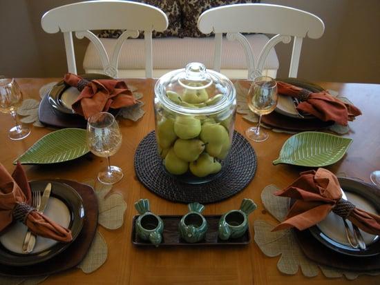 Organic Fall Table Setting
