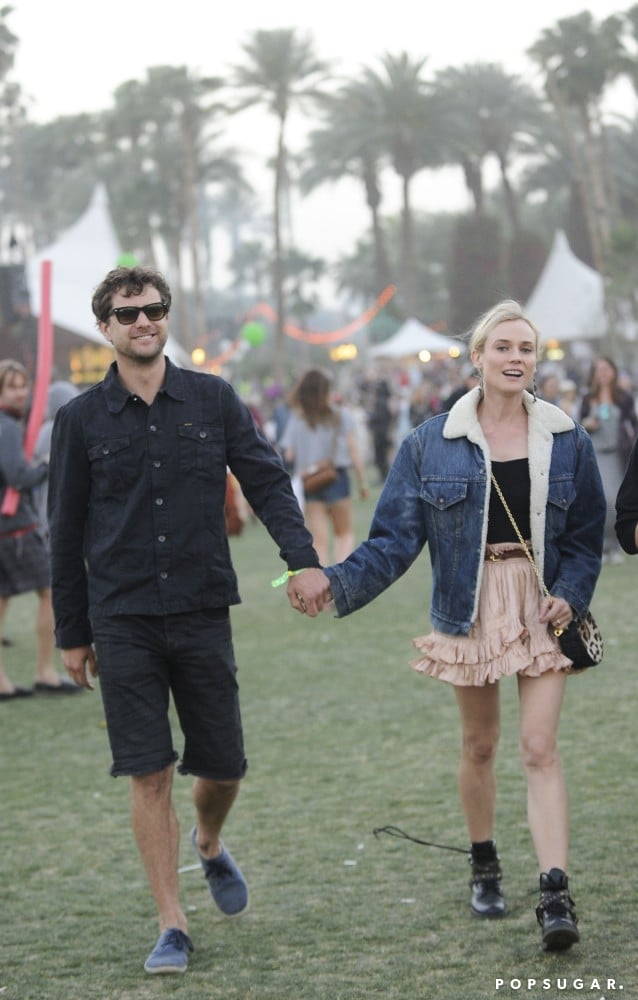 Diane Kruger and Joshua Jackson held hands at the musical celebration in 2013.