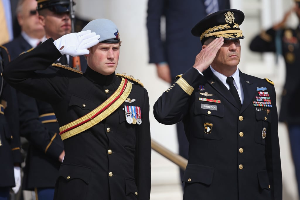 Prince Harry visited Arlington National Cemetery.