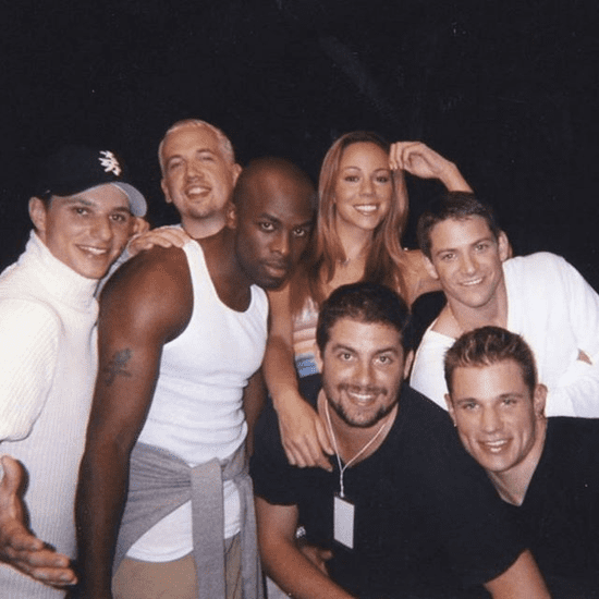 Mariah Carey, 98 Degrees, and Joe Flashback Photo