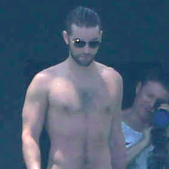 Chace Crawford Shirtless With Tony Romo | Pictures