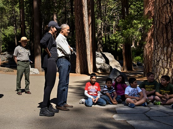 President Barack Obama Warns About Climate Change While Vacationing with Family in Yosemite