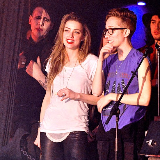 Amber Heard at Johnny Depp's Concert With Marilyn Manson