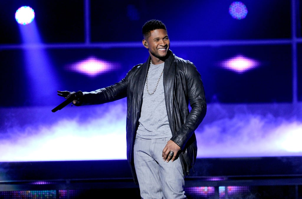 Usher was upbeat at the 2011 Latin Grammy Awards.