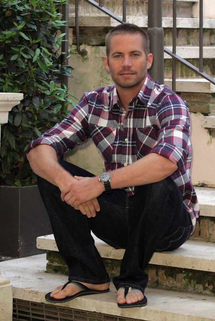 Paul sat for a laid-back photocall in Rome back in April 2011.