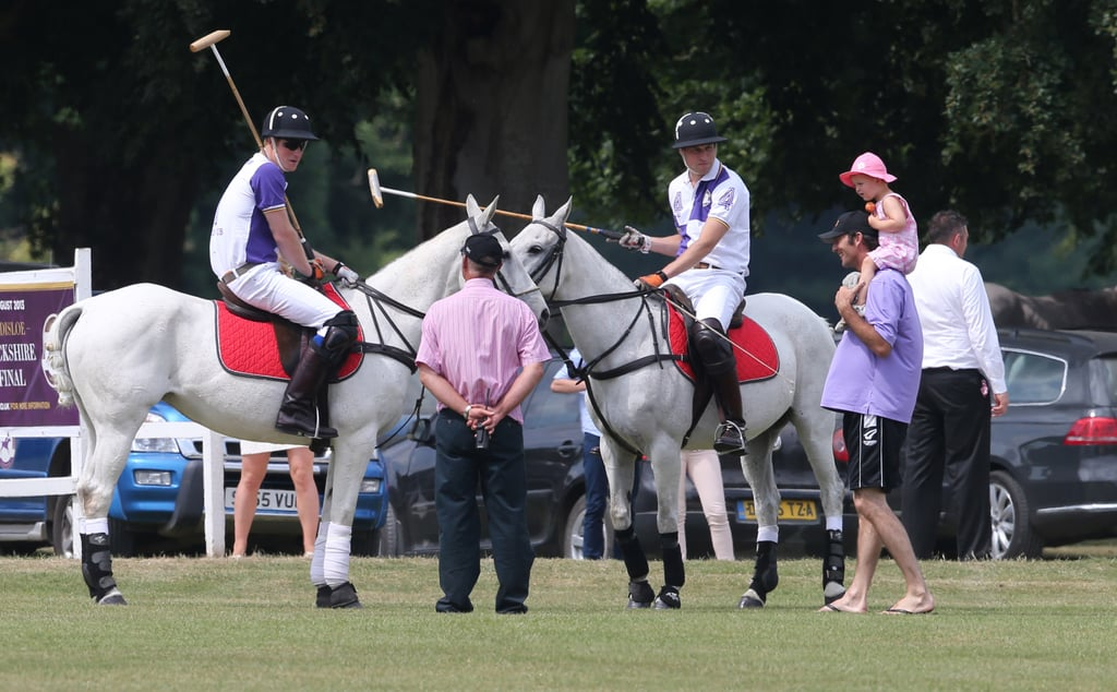 Harry and William Join Forces on the Field While Kate Leaves London