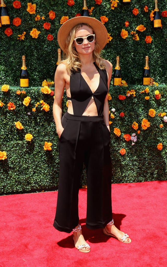 A classic's a classic — especially when it's a jumpsuit as chic at this one by Roland Mouret. Diane wore the cutout one-piece to the 8th Annual Veuve Clicquot Polo Classic.