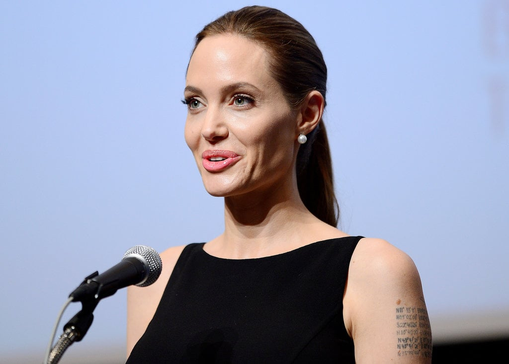 Angelina Jolie made an appearance the UN University in Tokyo.