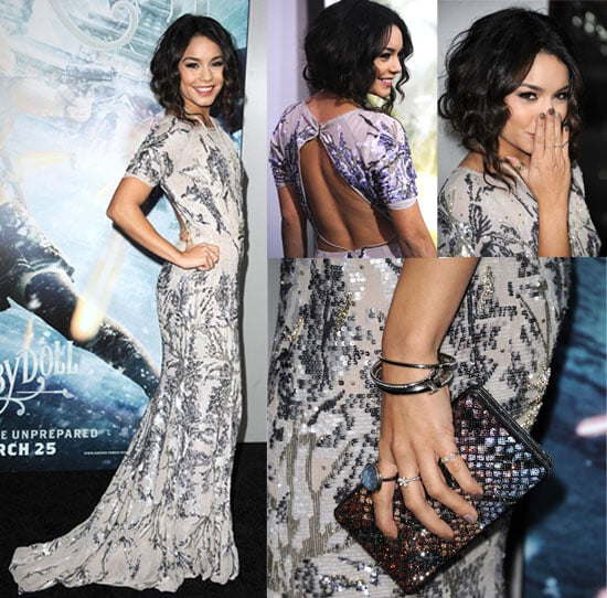 Photos of Vanessa Hudgens Wearing Jenny Packham Dress at Sucker Punch LA Premiere
