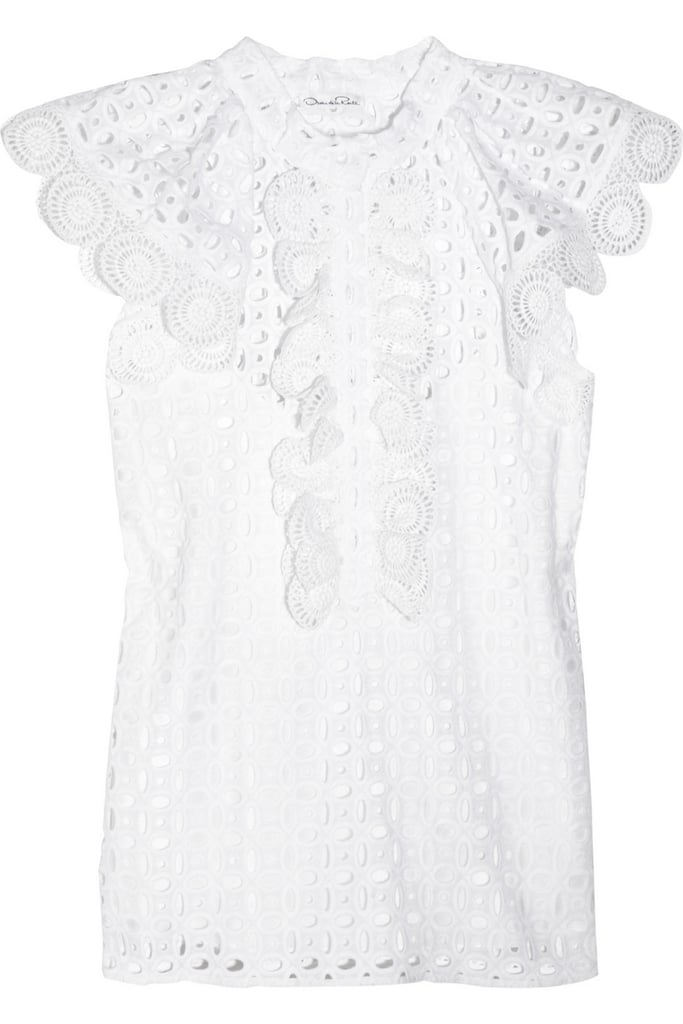Oscar de la Renta for The Outnet eyelet cotton top