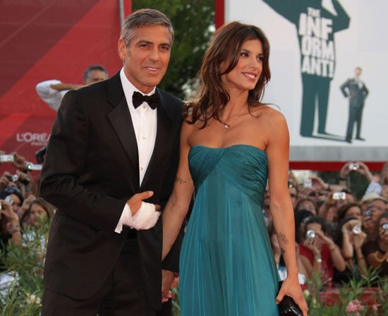 Photo Slide of George Clooney on Red Carpet With Elisabetta Canalis in Venice, Italy