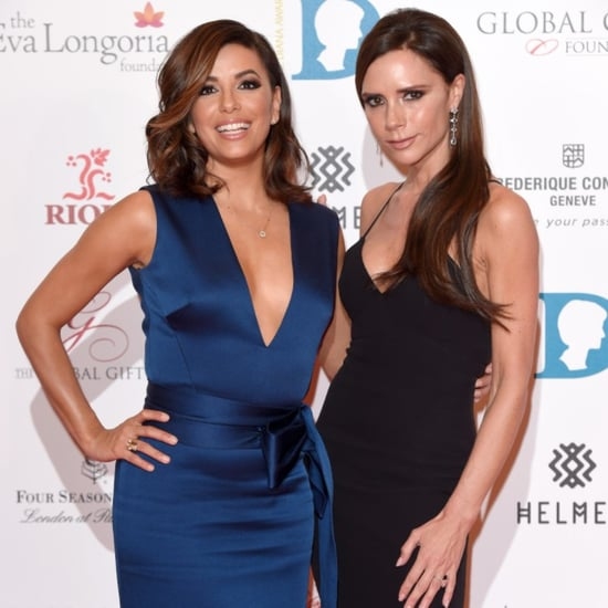 Eva Longoria and Victoria Beckham at Global Gift Gala 2015