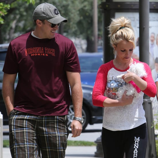 Britney Spears and David Lucado With Her Dog in LA