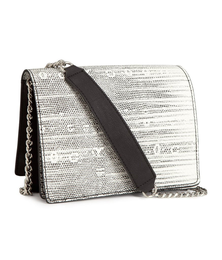 This gray-and-white ombré-ish shoulder bag ($30) is a smart pick for day or night, and a credit-card-friendly way to update your stable.
