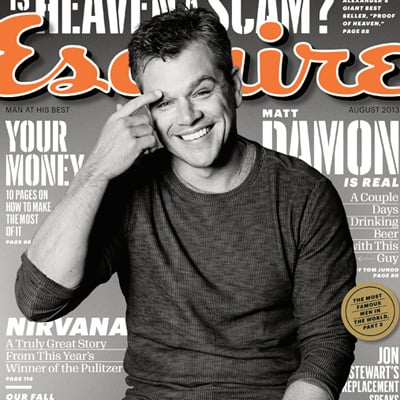 Matt Damon in Esquire August 2013