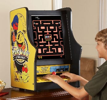 Tabletop Pac Man and Galaga Arcade System