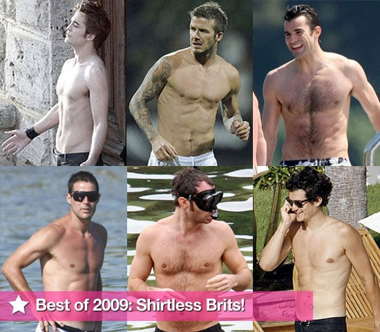 Extensive Photo Gallery of Shirtless British Men Including Robert Pattinson, David Beckham, Orlando Bloom
