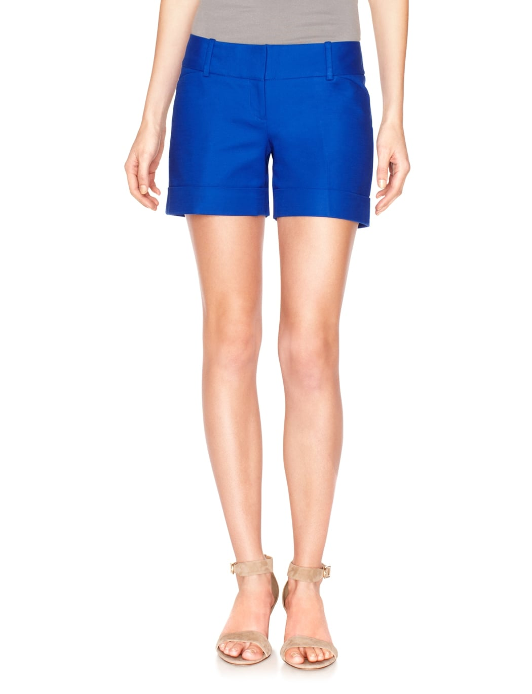 The Limited's cobalt shorts ($45) would look impeccably chic with some sleek black add-ons. We can also see it with a colorful embellished jacket.