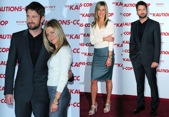 Photos of Jennifer Aniston and Gerard Butler Promoting The Bounty Hunter in Berlin