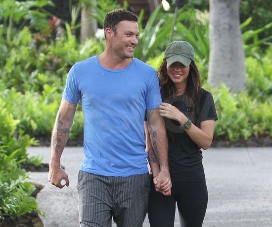 Slide Picture of Megan Fox and Brian Austin Green's Wedding Bands in Hawaii