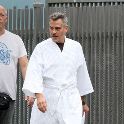 George Clooney On Set in Puerto Rico