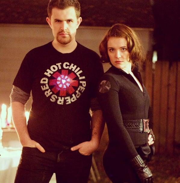 Black Widow and Tony Stark