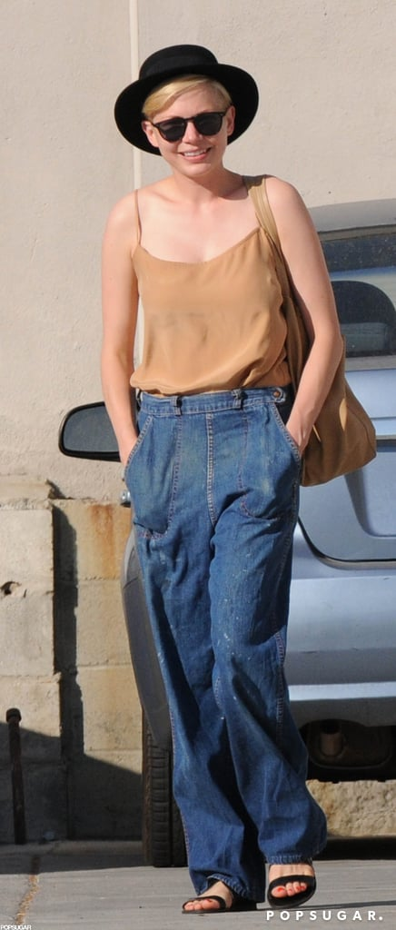 Michelle Williams wore a black hat and sunglasses while out in LA.