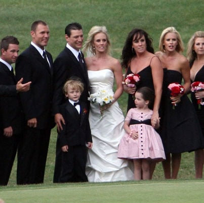 Jenny mccarthy and son evan asher suit up to play bridesmaid and ring