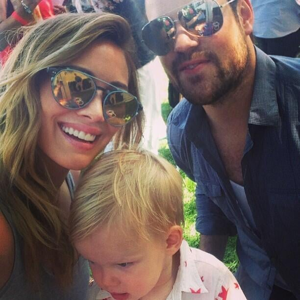 Hilary Duff shared a picture with her guys, Mike and Luca, from an afternoon at a party for JCPenney. Source: Twitter user HilaryDuff
