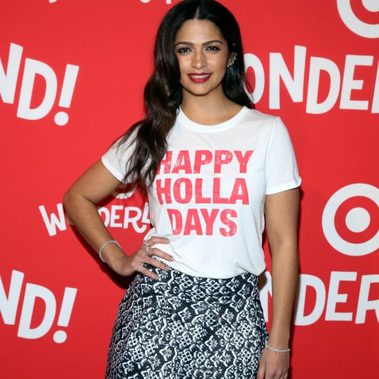 Camila Alves Wears Holiday T-Shirt