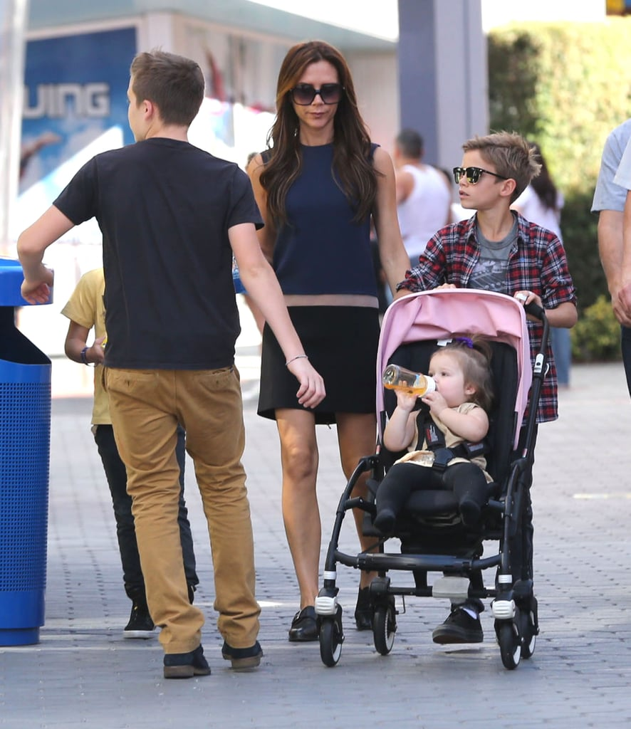 Victoria Beckham Wears Flats For a Family Outing Ahead of David's Loss