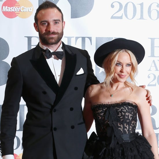Kylie Minogue and Joshua Sasse at 2016 Brit Awards