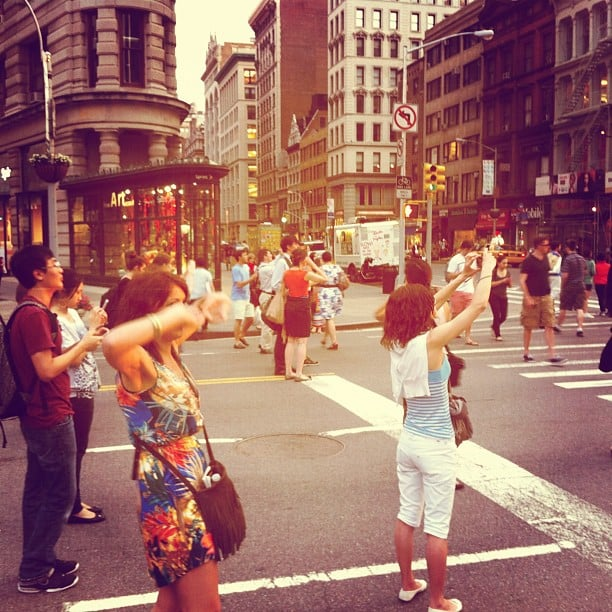Public Safety Announcement: think safety during Manhattanhenge photography sessions.