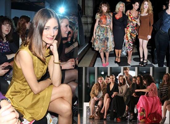 2011 A/W London Fashion Week Celebrities Olivia Palermo, Alexa Chung, Rachel Bilson