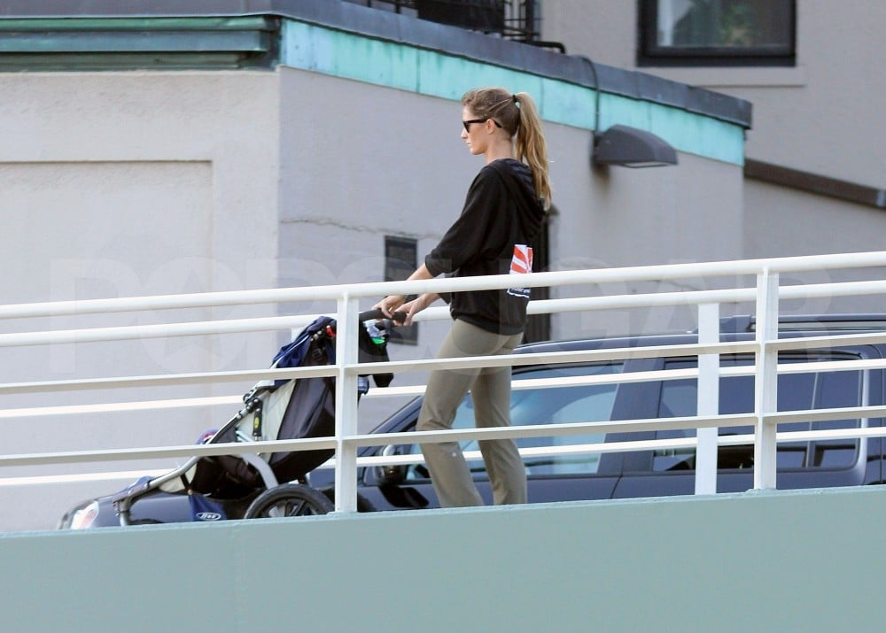 Gisele Bundchen and her son.
