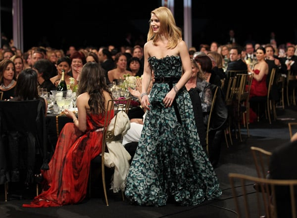 Claire Danes looked great on the red carpet, but her Louis Vuitton moved so right when she went up to receive her award.