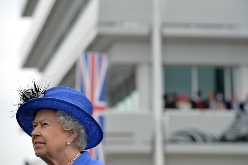 The queen admired the event.