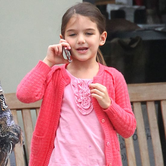 Suri Cruise on Her iPhone With Katie Holmes | Pictures